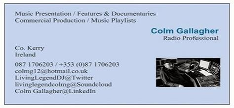 Colm gs blog the living legend on radio page 2 radio business card 2012new 2g colourmoves Images