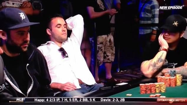 Poker player pulls 'saddest face in the world' after shock loss